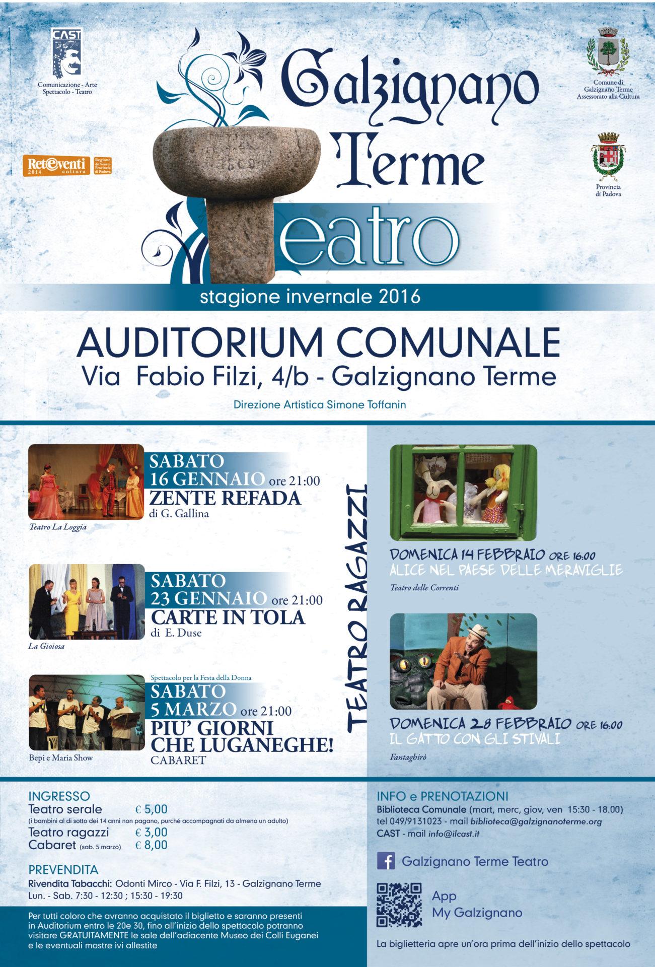 Galzignano Terme Teatro primavera 2016