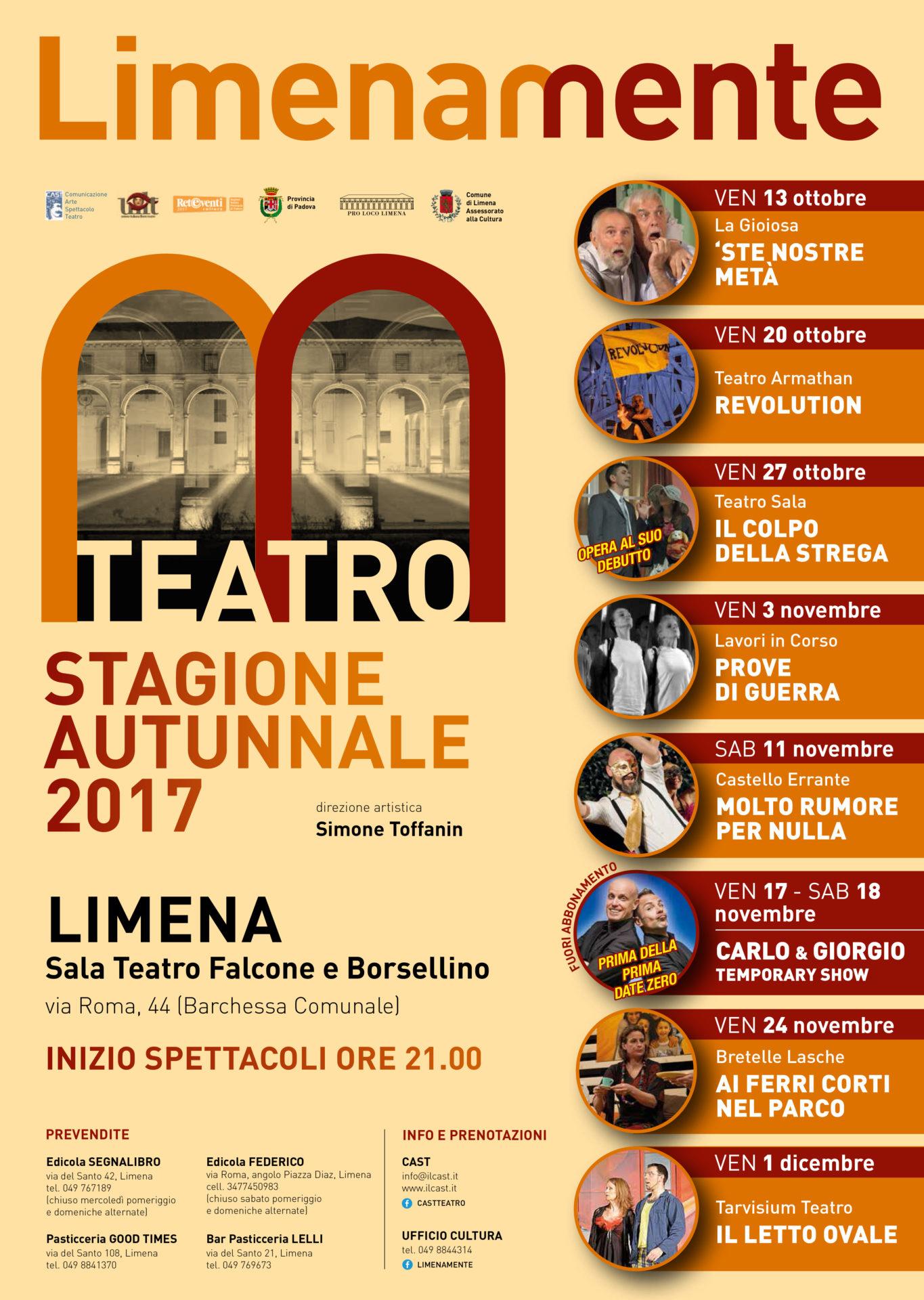 Limenamente Teatro autunno 2017