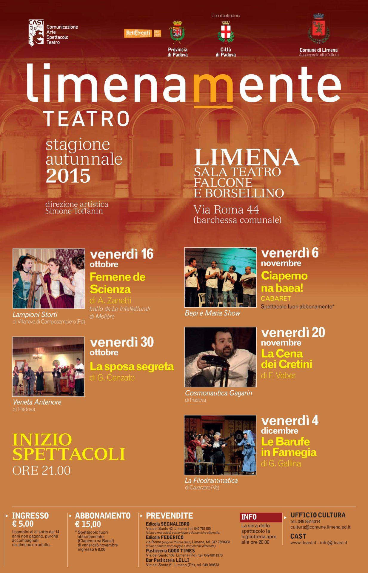 Limenamente Teatro autunno 2015