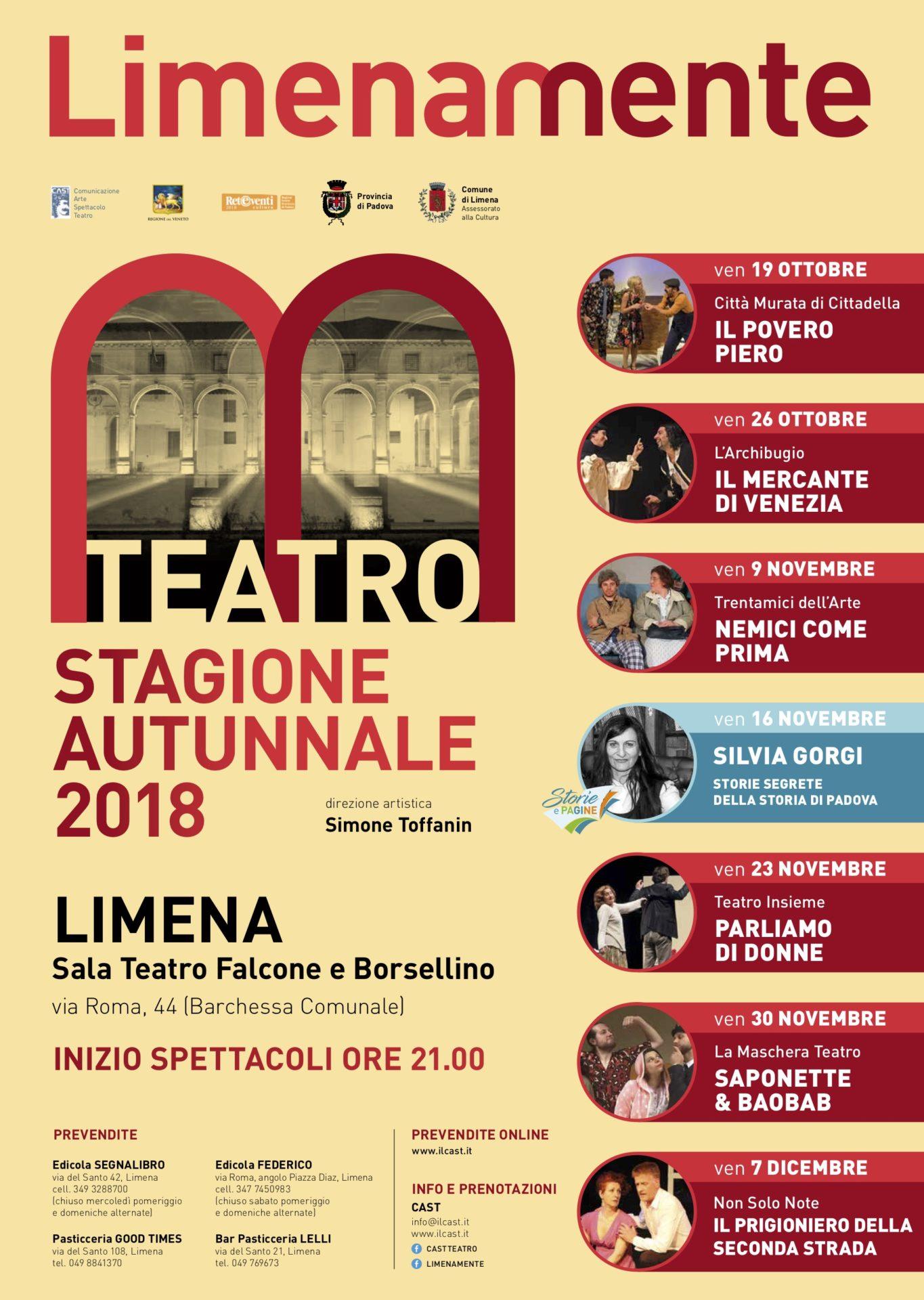 Limenamente Teatro autunno 2018